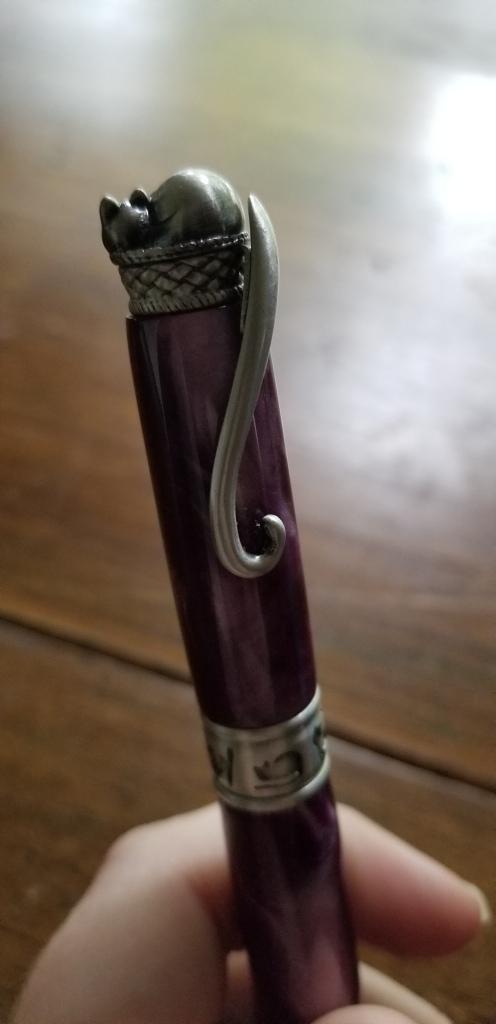 Closeup of cat pen design